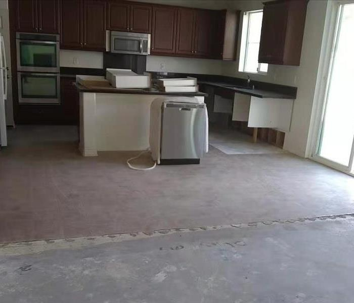 Kitchen before remediation