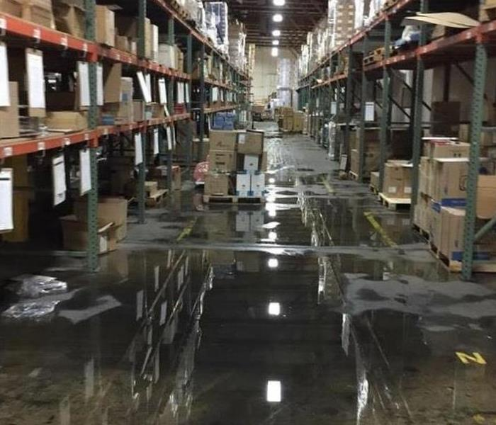 Warehouse water damage
