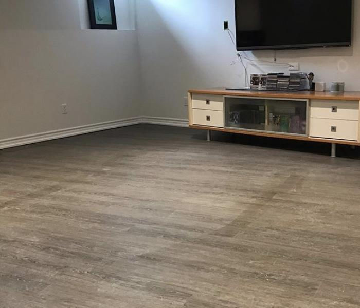 Repaired wood floor