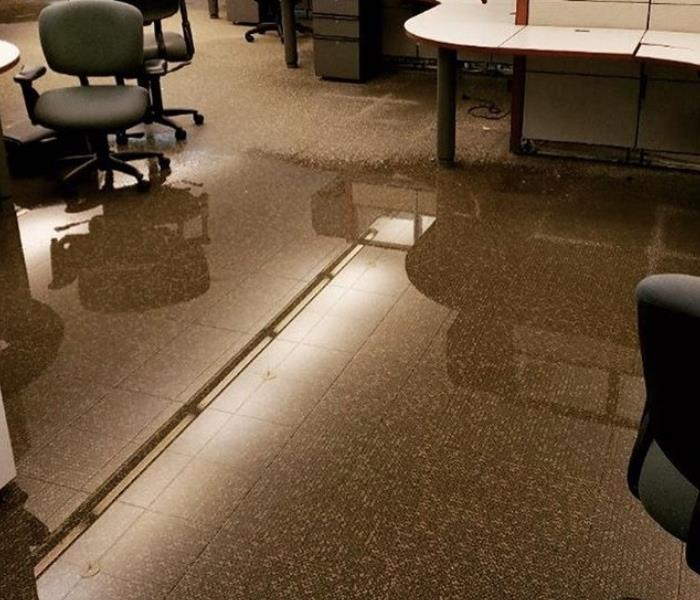 Office flood cleaned up